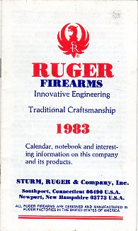 1983 Ruger Pocket Notebook