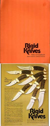 1978 Rigid Knives Portfolio/Catalog