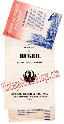 1964 Ruger 10/22 Carbine Manual