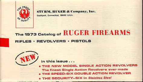 1973 Ruger Firearms Catalog