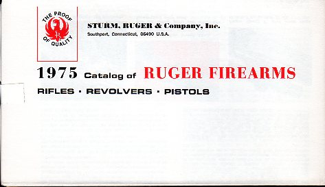 1975 Ruger Firearms Catalog
