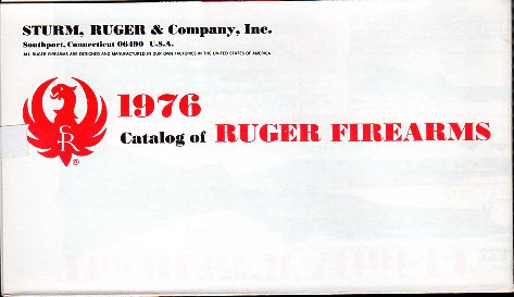 1976 Ruger Firearms Catalog