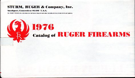 1976 Ruger Firearms Catalog C