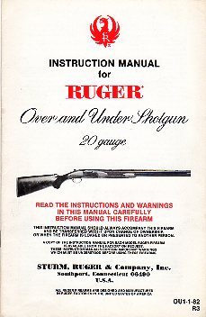 1982 Ruger O/U Instructions