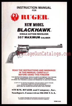Ruger N.M. Blackhawk .357 Max. Manual