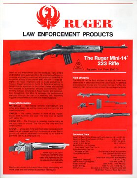 1978 Ruger Law Enforcement Catalog
