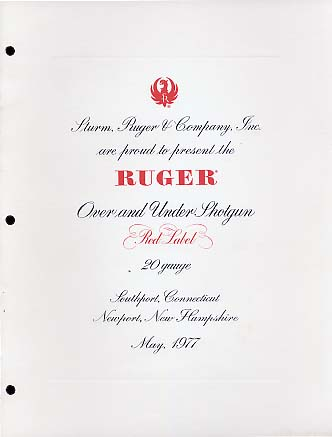 1977 Ruger Red Label Folder
