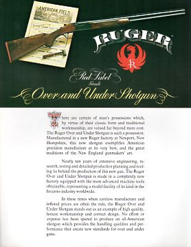 1977 Ruger Red Label Catalog