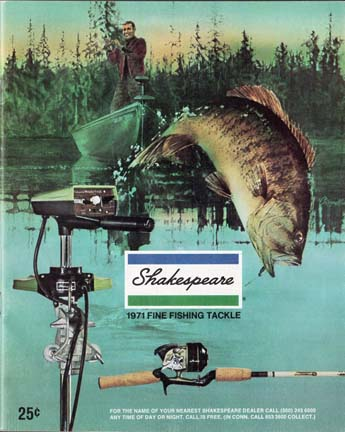 1971 Shakespeare Fishing Tackle Catalog