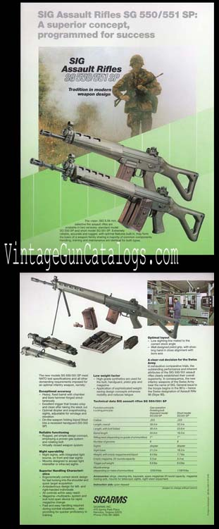 1987 SIGARMS Assault Rifle Broadsheet