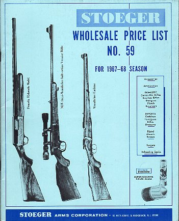 1967-68 Stoeger Whsle. Price List