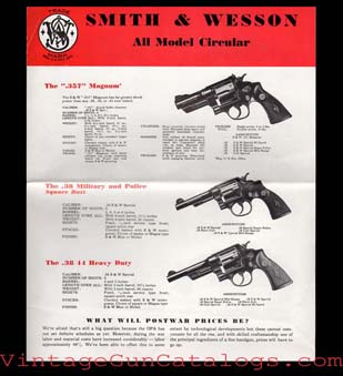 1945 Smith & Wesson Circular/Catalog