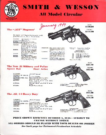 1946/49 Smith & Wesson Catalog/Circular