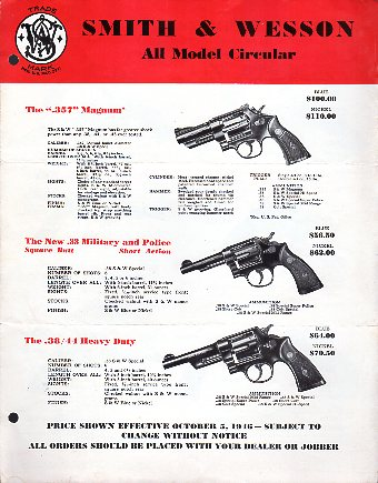 1946/50 Smith & Wesson Catalog/Circular