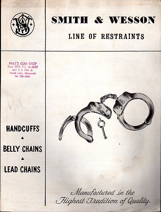 "1948 S&W ""Restraints"" Catalog"