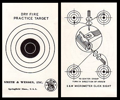 S&W Dry Fire Practice Target
