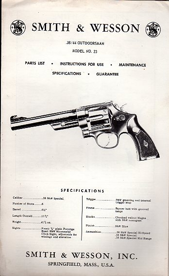 S&W .38/44 Outdoorsman Model 23