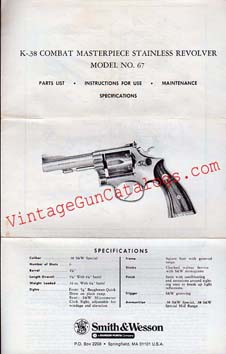 S&W K-38 Combat Masterpiece Model No.67
