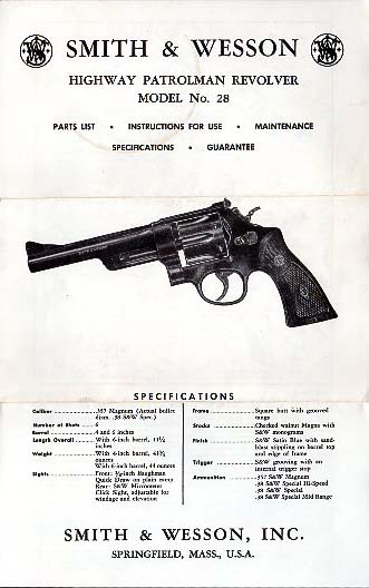 S&W Highway Patrolman Model No.28