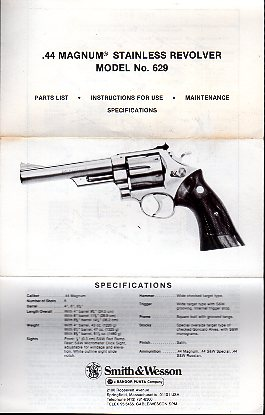 S&W .44 Magnum Stainless Model 629
