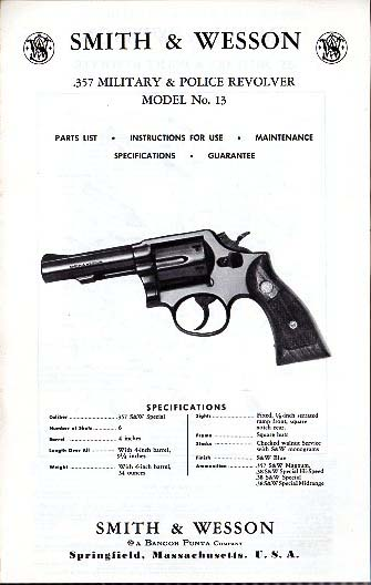S&W Military & Police .357  Model No.13