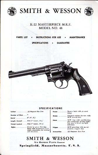 S&W K-22 Masterpiece M.R.F. Model No.48