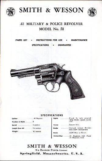 instruction manuals vintage gun catalogs rh vintageguncatalogs com SW 41 Review Sw-41 Barrel