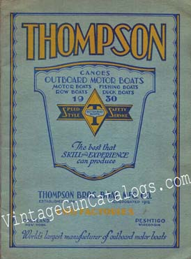 1930 Thompson Bros.Boat Mfg.Co. Catalog