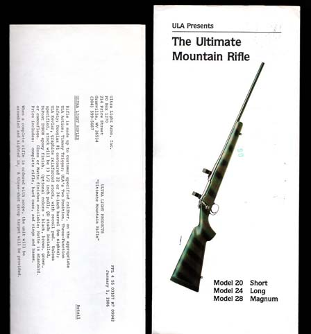 1986 Ultra Light Arms Catalog