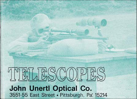 1984 Unertl TeleScopes Catalog