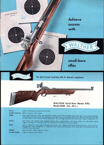 1960 Walther Small Bore Rifle Catalog