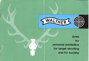 1963 Walther Guns Brochure/Catalog