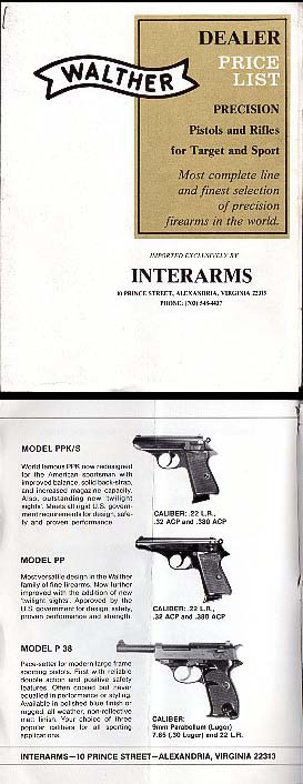 1970 Walther/Interarms Catalog