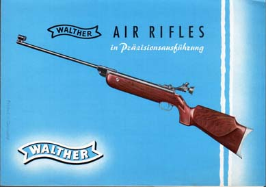 1950's Walther Air Rifles Brochure