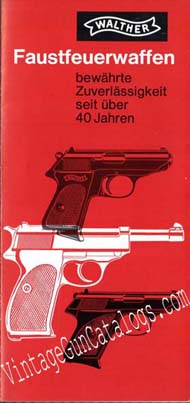 1960's Walther Pistols Catalog/Brochure