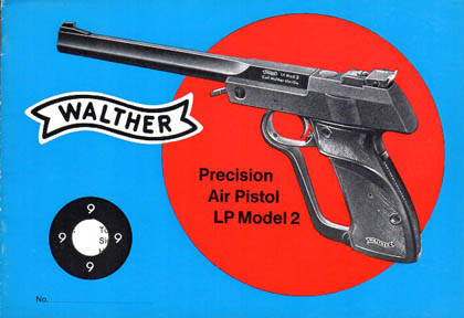 Circa Late 1960's Walther Air Pistol LP Model 2 Manual