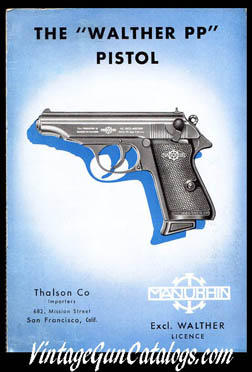 1953 Manurhin Walther PP Brochure