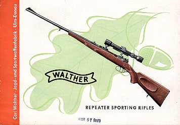 1957 Walther Rifles Catalog
