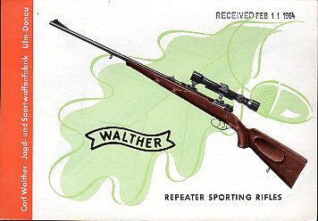 1964 Walther Rifles Catalog