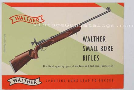 1950's Walther Small Bore Rifles Brochure