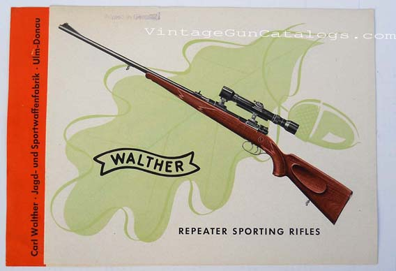 1950's Walther Repeater Sporting Rifles Brochure