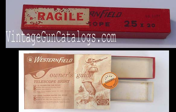Wards 2.5 x 20 Westernfield Scope Carton