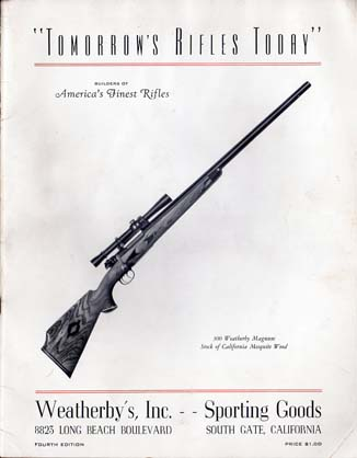 1950 Weatherby Catalog / Guide