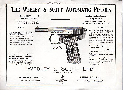 Webley & Scott Model 1907 & 1908 Instructions