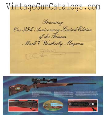 1980 Weatherby 35th Anniversary Mark V Folder