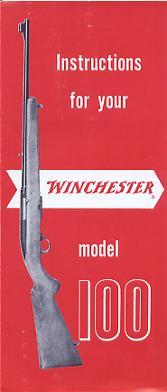 1960's Winchester Model 100 Instrucrtions
