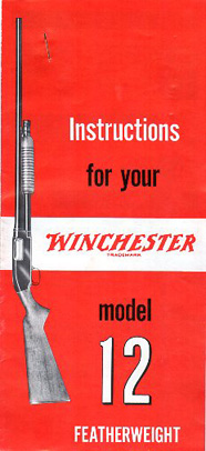Winchester Model 12 Featherweight Manual #2
