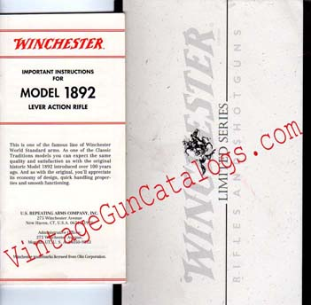 "Winchester Limited Series Model 1892 ""1 of 500"" Manual"