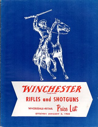 1954 Winchester Wholesale/Retail Price List