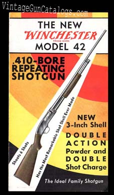 1933 Winchester New Model 42 Brochure